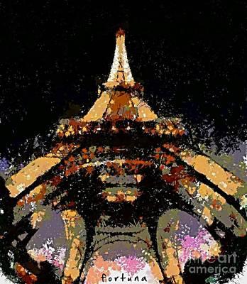 City Scenes Digital Art - Eiffel Tower by Dragica  Micki Fortuna