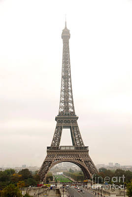Sepia Photograph - Eiffel Tower by Elena Elisseeva