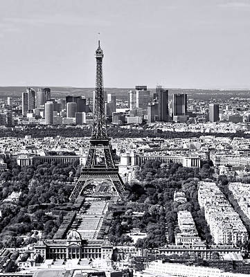 Photograph - Eiffel Tower In Black And White by Ginger Wakem