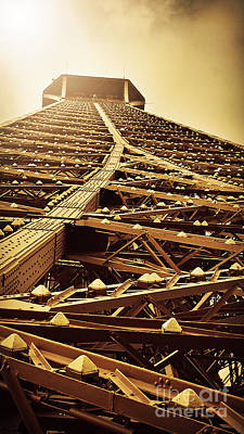 Benchmark Photograph - Eiffel Tower Top by Patricia Awapara