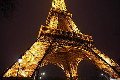 Iron Photograph - Eiffel Tower - Paris France - 011314 by DC Photographer