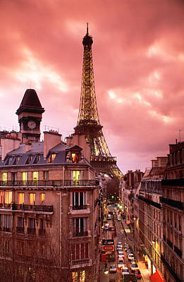 Rooftop Photograph - Eiffel Tower Paris France by Panoramic Images