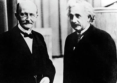 Einstein And Max Planck Art Print by Emilio Segre Visual Archives/american Institute Of Physics