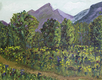 Painting - Eklutna Meadow by Mary LaFever