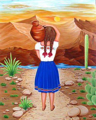 Painting - El Cantaro by Evangelina Portillo