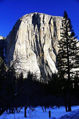 Photograph - El Capitan In Winter by Michael Courtney