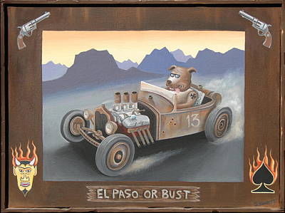 El Paso Or Bust Original by Stuart Swartz