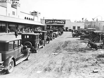 Photograph - El Patio Auto Laundry by Underwood Archives