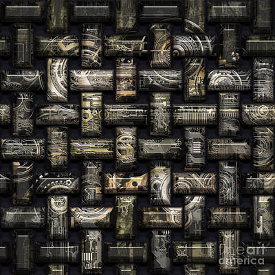 Mixed Media Royalty Free Images - Elaborate compounds Royalty-Free Image by Diuno Ashlee