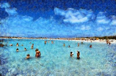 Painting - Elafonisi Beach by George Atsametakis