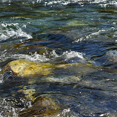 Photograph - Elbow River Water  1.3 by Cheryl Miller