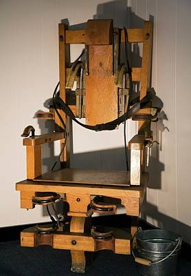 Punishment Photograph - Electric Chair by Jim West