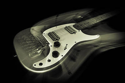 Jazz Band Photograph - Electric Guitar Ghost by Erin Cadigan