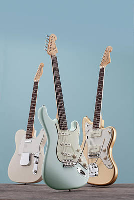 Blue Background Photograph - Electric Guitar Product Shoots by Guitarist Magazine