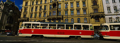 Electric Train On A Street, Prague Art Print by Panoramic Images