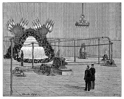 1880s Photograph - Electricity Transmission Tests by Science Photo Library