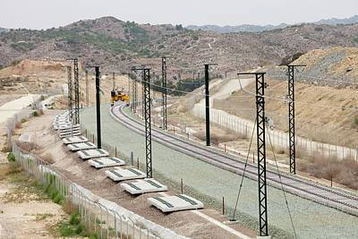 Alicante Photograph - Electrified Railway Line Being Built by Ashley Cooper