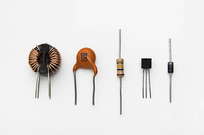 Electronic Component Photograph - Electronic Components by GIPhotoStock