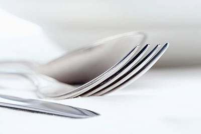 Tableware Photograph - Elegant Table Setting With Silverware by Panoramic Images