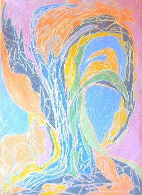Drawing - Elegy To A Tree by Esther Newman-Cohen