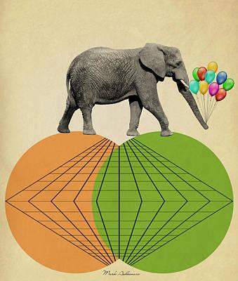 Safari Digital Art - Elephant  by Mark Ashkenazi
