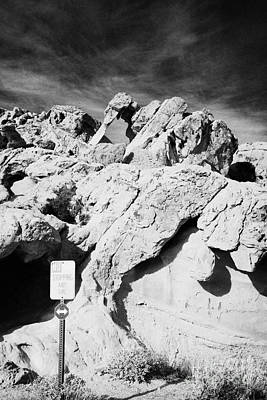 Elephant Rock Sandstone Rock Formation Valley Of Fire State Park Nevada Usa Art Print by Joe Fox