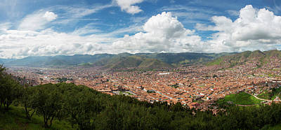 Cusco Photograph - Elevated View Of Cityscape by Panoramic Images