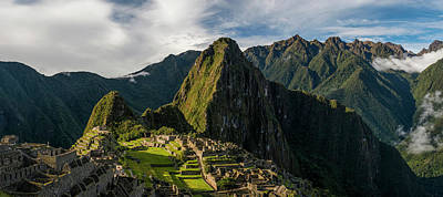 Ancient Civilization Photograph - Elevated View Of Inca Ruins, Machu by Panoramic Images