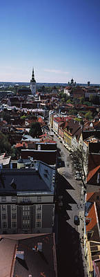 Tallinn Photograph - Elevated View Of Old Town, Tallinn by Panoramic Images
