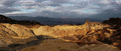 Zabriskie Point Photograph - Elevated View Of Rock Formations by Panoramic Images