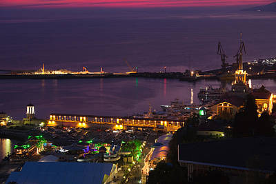 Elevated View Of Sea Terminal Art Print by Panoramic Images