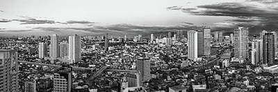 Manila Photograph - Elevated View Of Skylines In A City by Panoramic Images