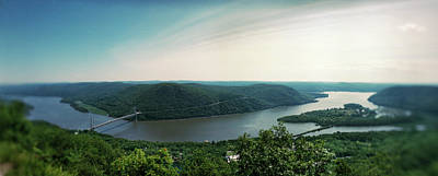 Elevated View Of The Hudson River Art Print by Panoramic Images