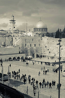 Wailing Wall Photograph - Elevated View Of The Western Wall by Panoramic Images