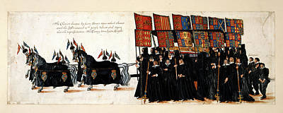 Funeral Procession Photograph - Elizabeth I's Funeral Procession by British Library