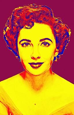 Smiling Mixed Media - Elizabeth Taylor by Art Cinema Gallery