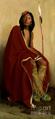 Tribe Painting - Elk-foot Of The Taos Tribe by Celestial Images