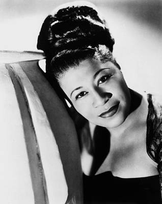 Decolletage Photograph - Ella Fitzgerald (1917-1996) by Granger