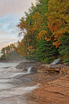 Photograph - Elliot Falls In Fall by Leda Robertson