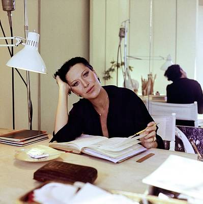 Photograph - Elsa Peretti At Her Desk by Horst P. Horst