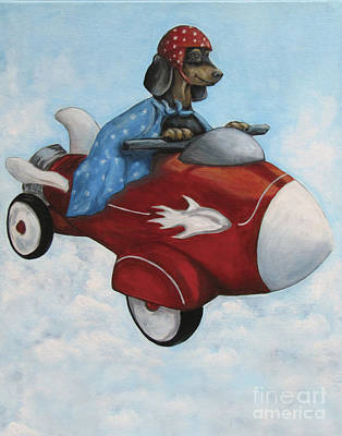 Elvis Flies For K9 Air Art Print by Robin Wiesneth