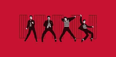 King Of Rock Digital Art - Elvis - Jailhouse Rock by Brand A