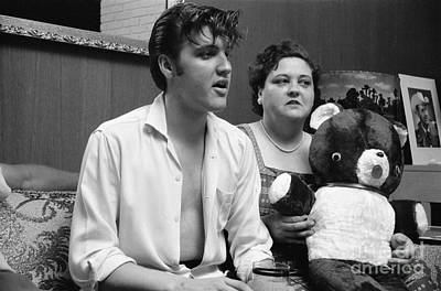 Elvis Presley And His Mother Gladys 1956 Art Print by The Harrington Collection