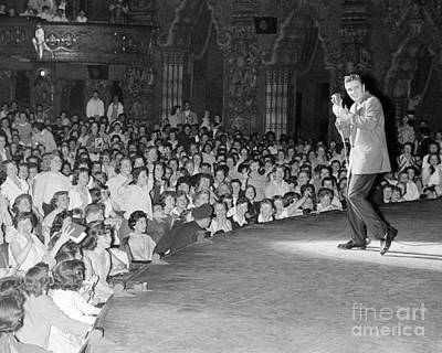 Elvis Presley Photograph - Elvis Presley In Concert At The Fox Theater Detroit 1956 by The Harrington Collection