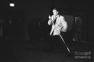 Elvis Presley Photograph - Elvis Presley Performing In Dayton In 1956 by The Harrington Collection