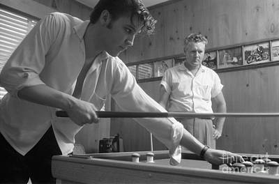 Musicians Photo Rights Managed Images - Elvis Presley with his father Vernon 1956 Royalty-Free Image by The Harrington Collection