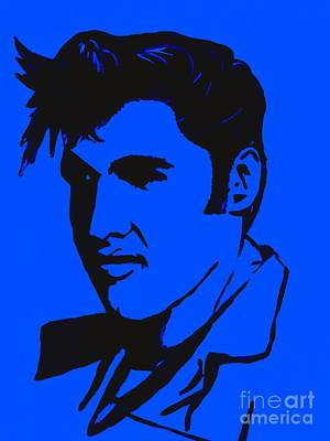 Painting - Elvis The King by Saundra Myles