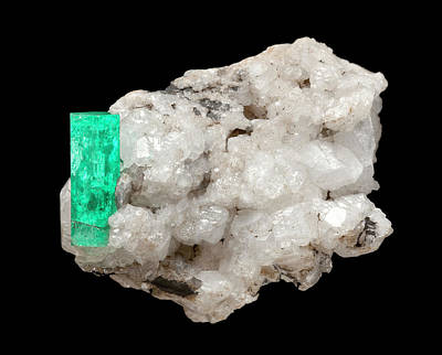 Silicate Photograph - Emerald by Natural History Museum, London
