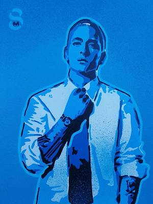 Pop Art Painting - Eminem 8 Mile by Leon Keay