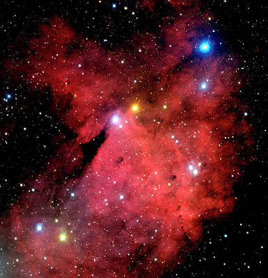 Emission Nebulae Art Print by Canada-france-hawaii Telescope/jean- Charles Cuillandre/science Photo Library